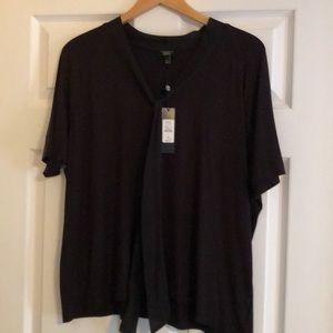 Talbots black blouse